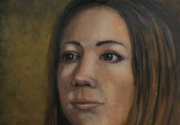 A painting of a women