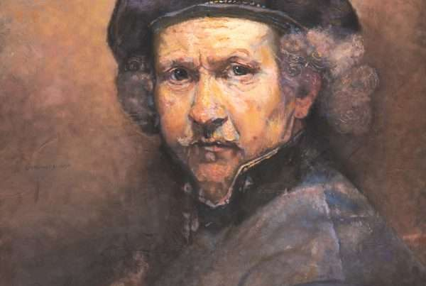 A self portrait of Rembrandt
