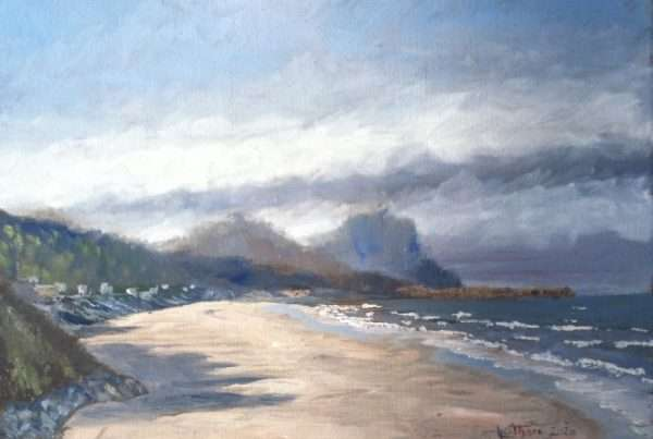 en plein air painting on Oregon coast