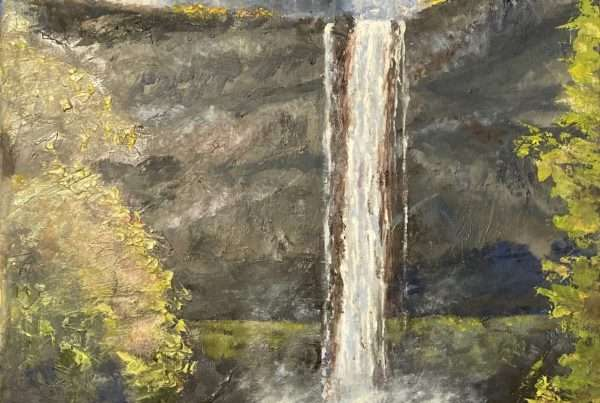 Oil painting of Silver Falls in Oregon.